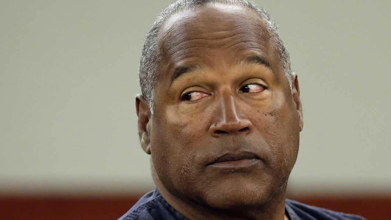 This May 13, 2013 file photo shows O.J. Simpson at an evidentiary hearing in Clark County District Court, in Las Vegas.