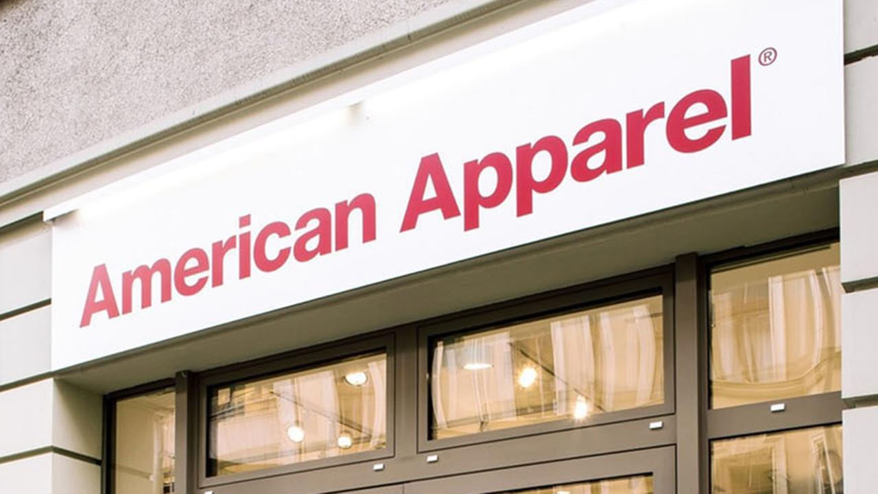 The sign outside an American Apparel store is shown in this photo provided by PRNewsfoto.