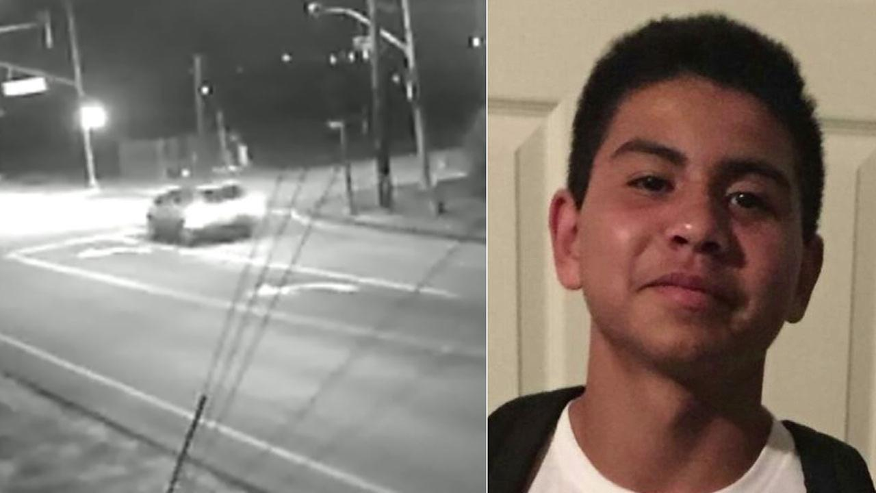 Ventura police released a photo of a vehicle of interest (left) in connection to the death of 14-year-old Jonathan Hernandez (right) on Friday, Feb. 19, 2016.
