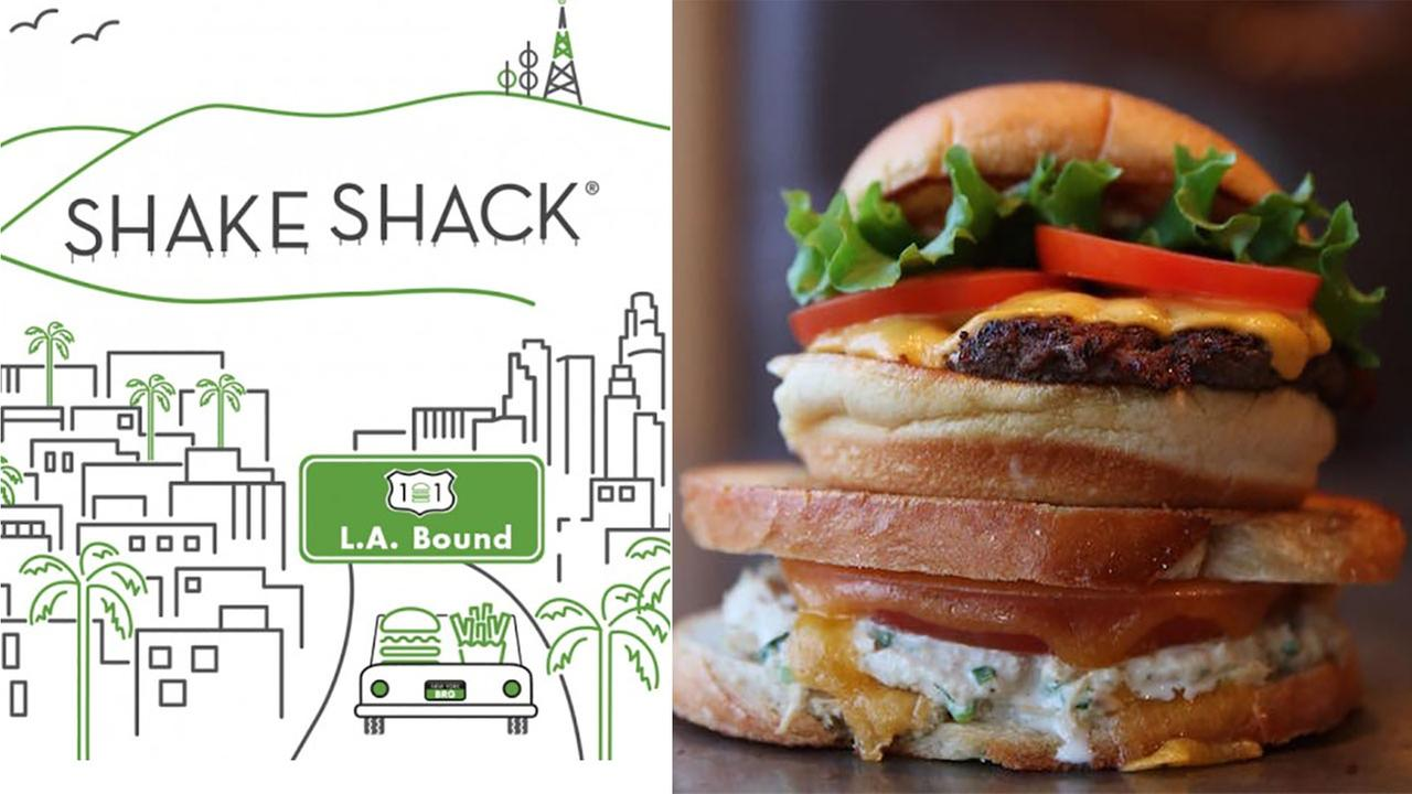 Shake Shack opened its second California location in Glendale on Friday, Sept. 23, 2016.
