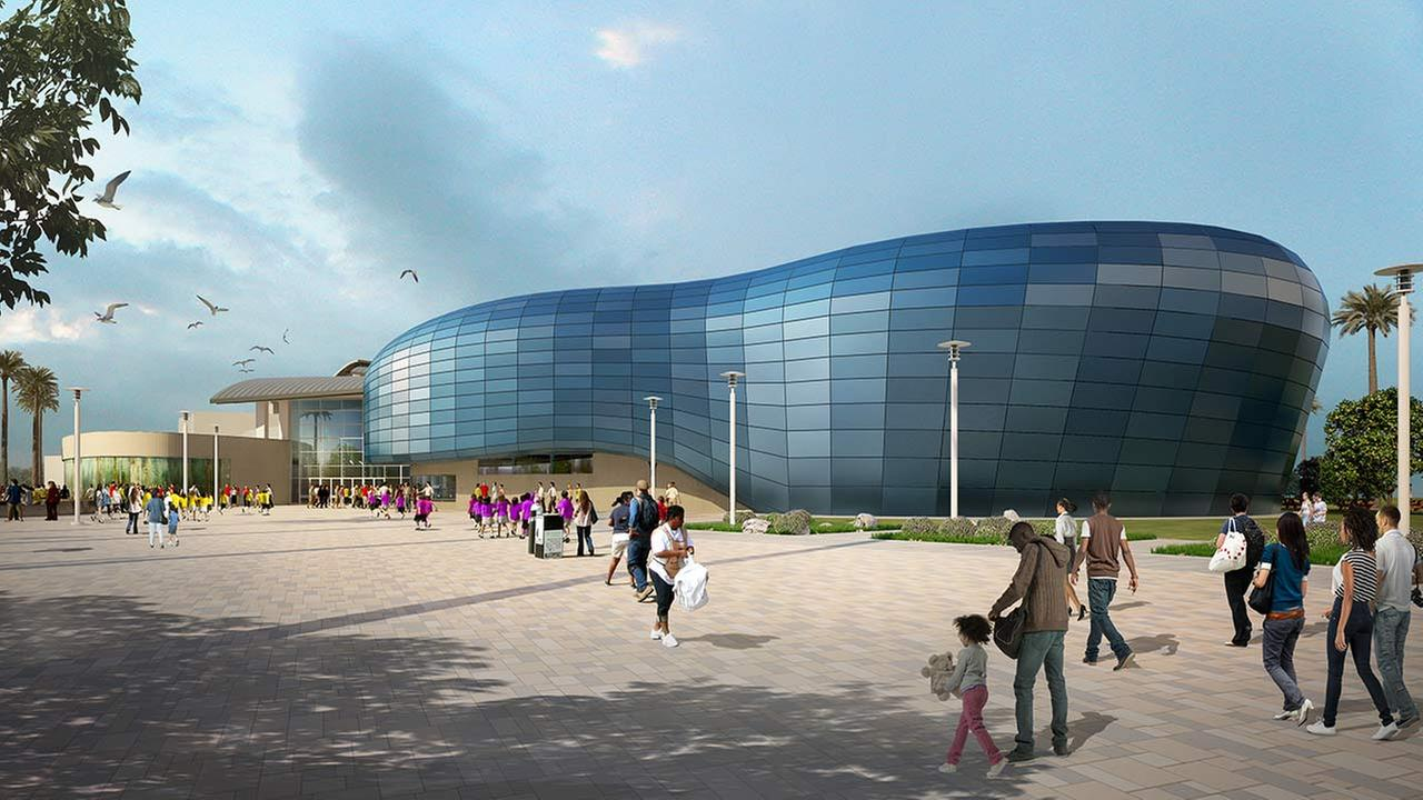 Artists rendering of the planned expansion of the Aquarium of the Pacific in Long Beach.