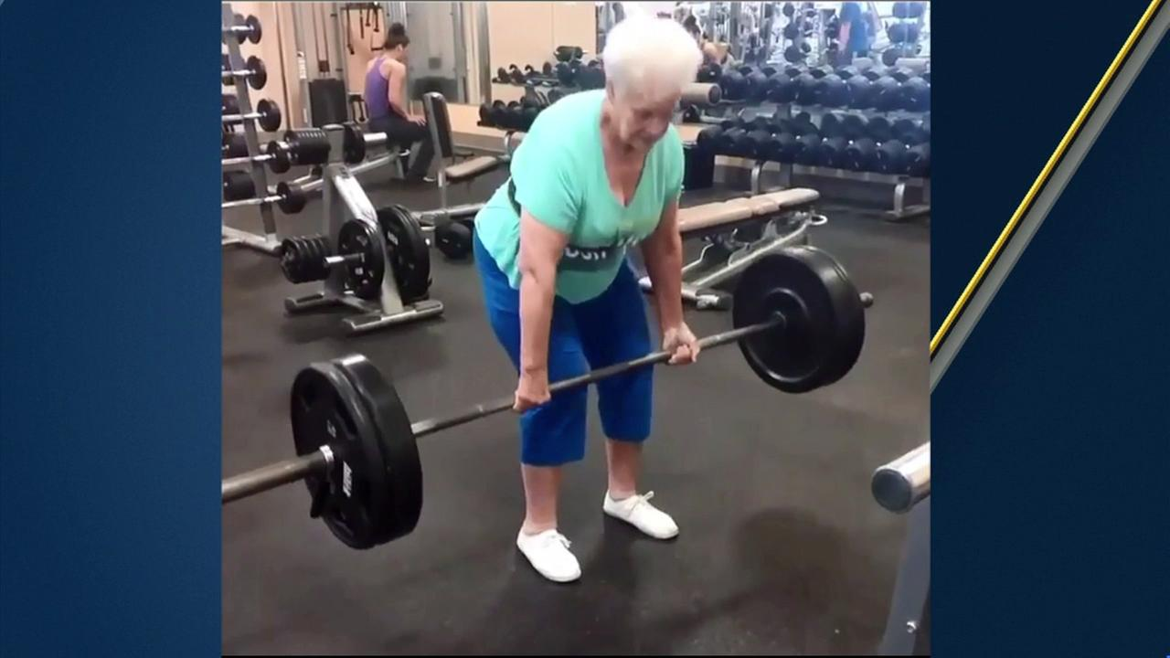 Video of Shirley Webb, a 78-year-old grandmother from St. Louis, deadlifting 225 pounds is going viral on social media.