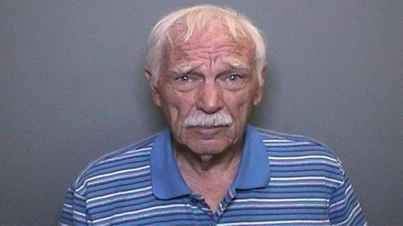 Douglas Whinery, 80, is pictured in a mugshot released by the Orange County District Attorneys Office and Tustin Police Department.
