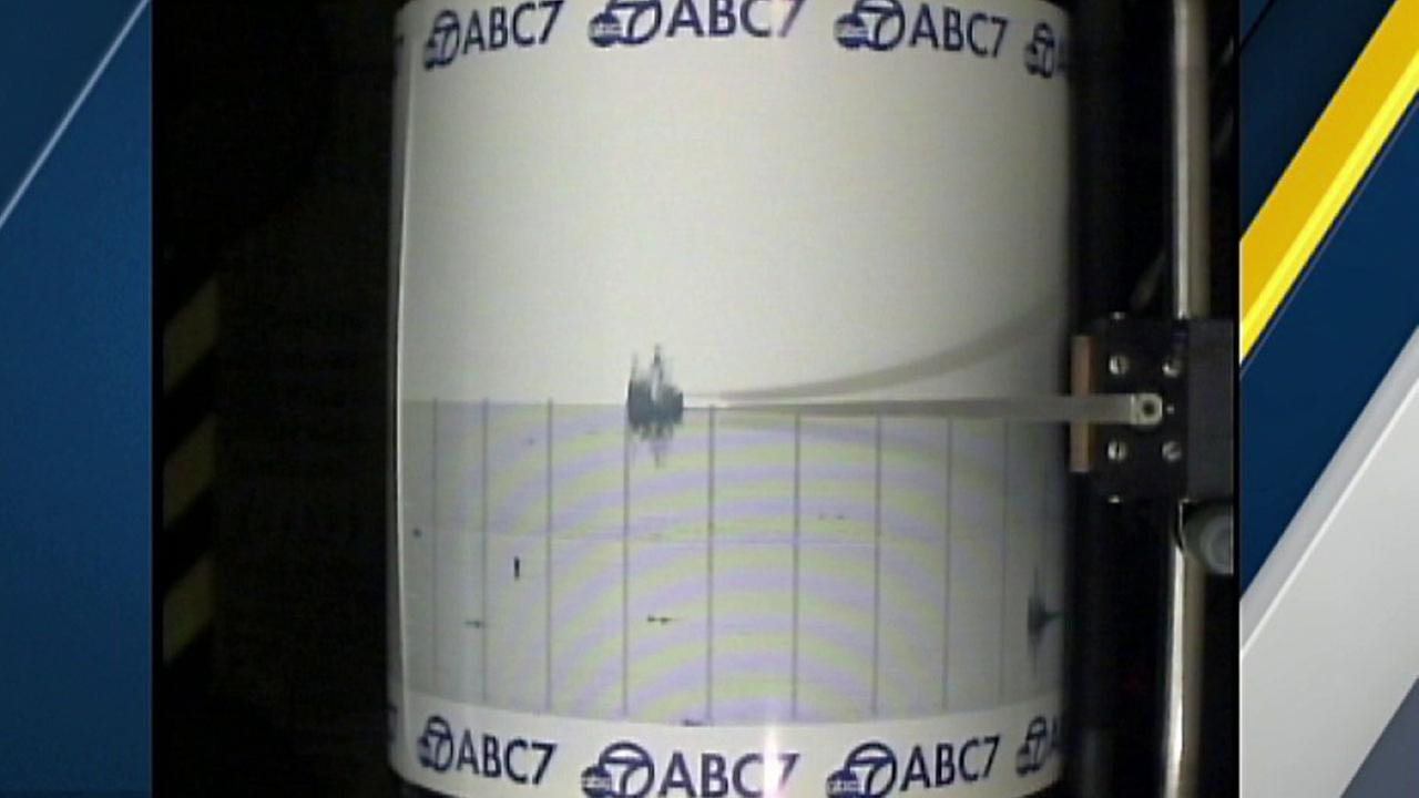 The ABC7 Quake Cam captured a 3.5-magnitude earthquake that struck the Port Hueneme area on Wednesday, April 6, 2016.