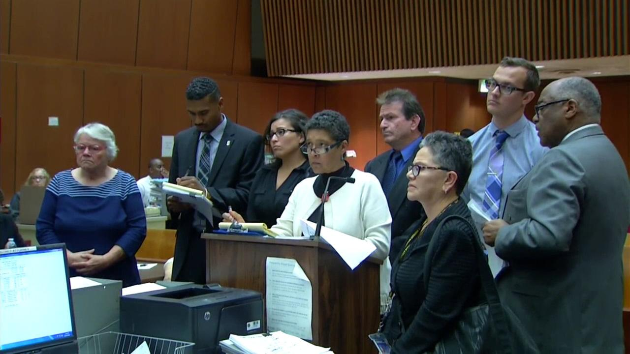 Four Los Angeles County social workers charged after a boys beating death appear in court on Thursday, April 7, 2016.