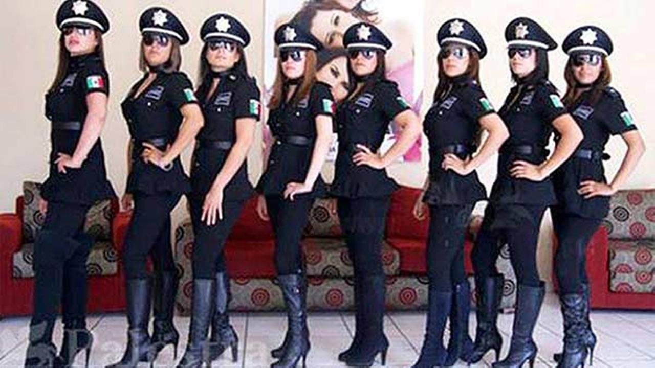 A police unit of women in high-heeled boots and tight clothes in Aguascalientes, Mexico was recently disbanded.