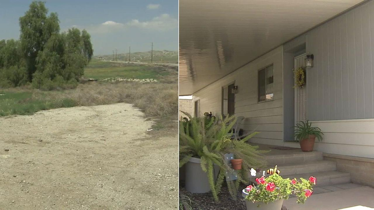 A 25-year-old woman was found dead near Moreno Valley (left). A 78-year-old woman was found beaten to death inside her Banning mobile home (right).