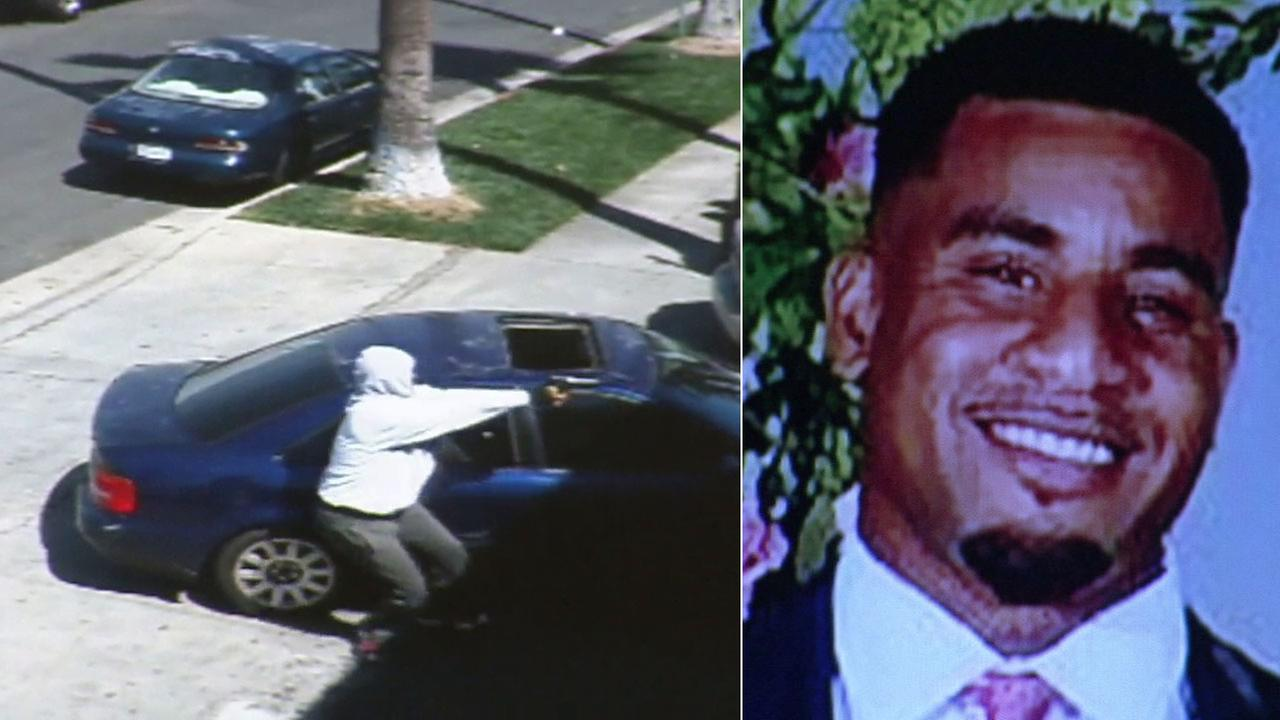 A gunman fatally shot 27-year-old Robert Ellis outside a barbershop in the 5500 block of S. Vermont Avenue in South Los Angeles Friday, March 25, 2016.