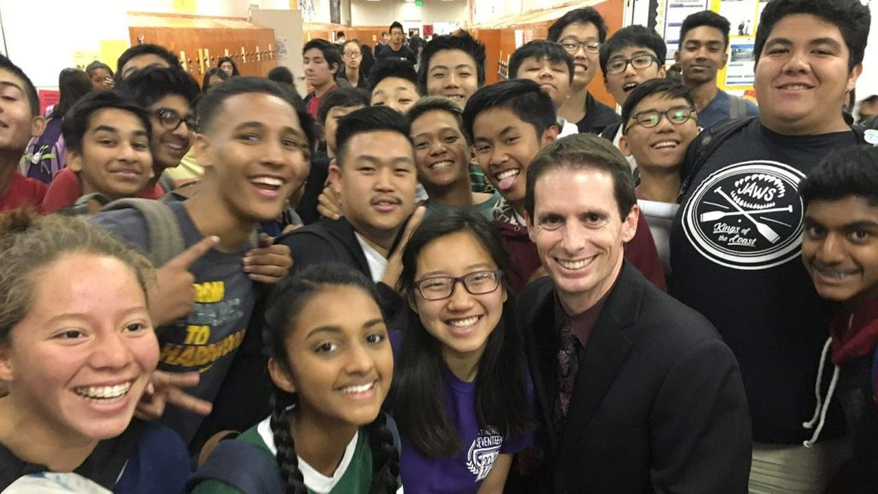 Students pose for a photo at Gretchen A. Whitney High School on Wednesday, April 20, 2016.