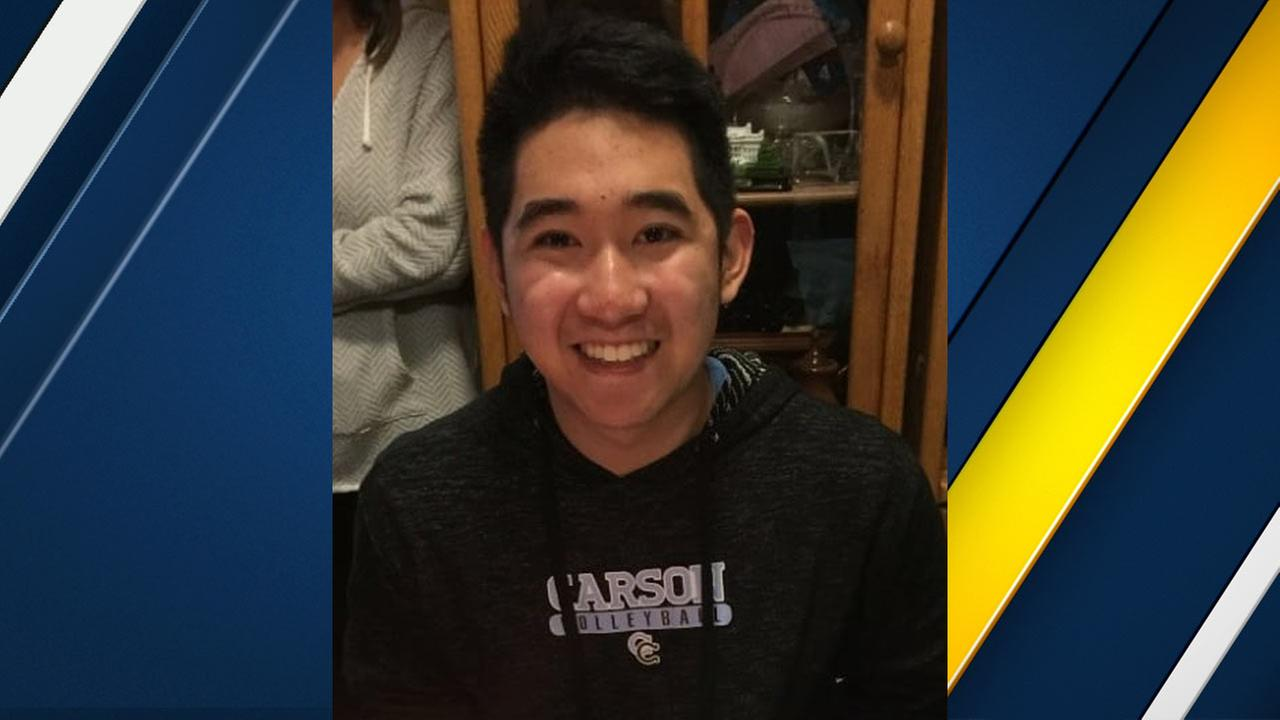 Justin Uy, 18, is seen in a photo provided by the Los Angeles County Sheriffs Department.