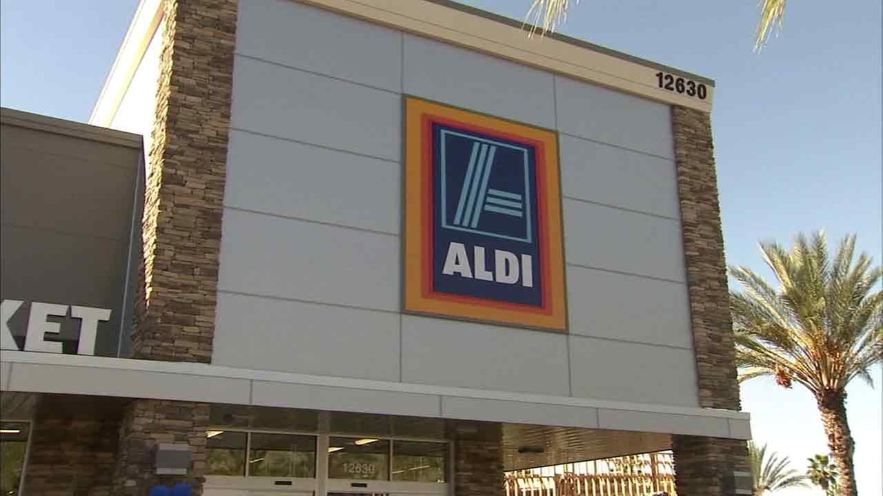 An undated photo of an Aldi grocery store.