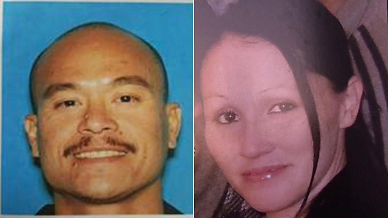 Police are looking for Philip Policarpio, left, in the shooting death of his girlfriend, Lauren Olguin, right, on April 12, 2016.