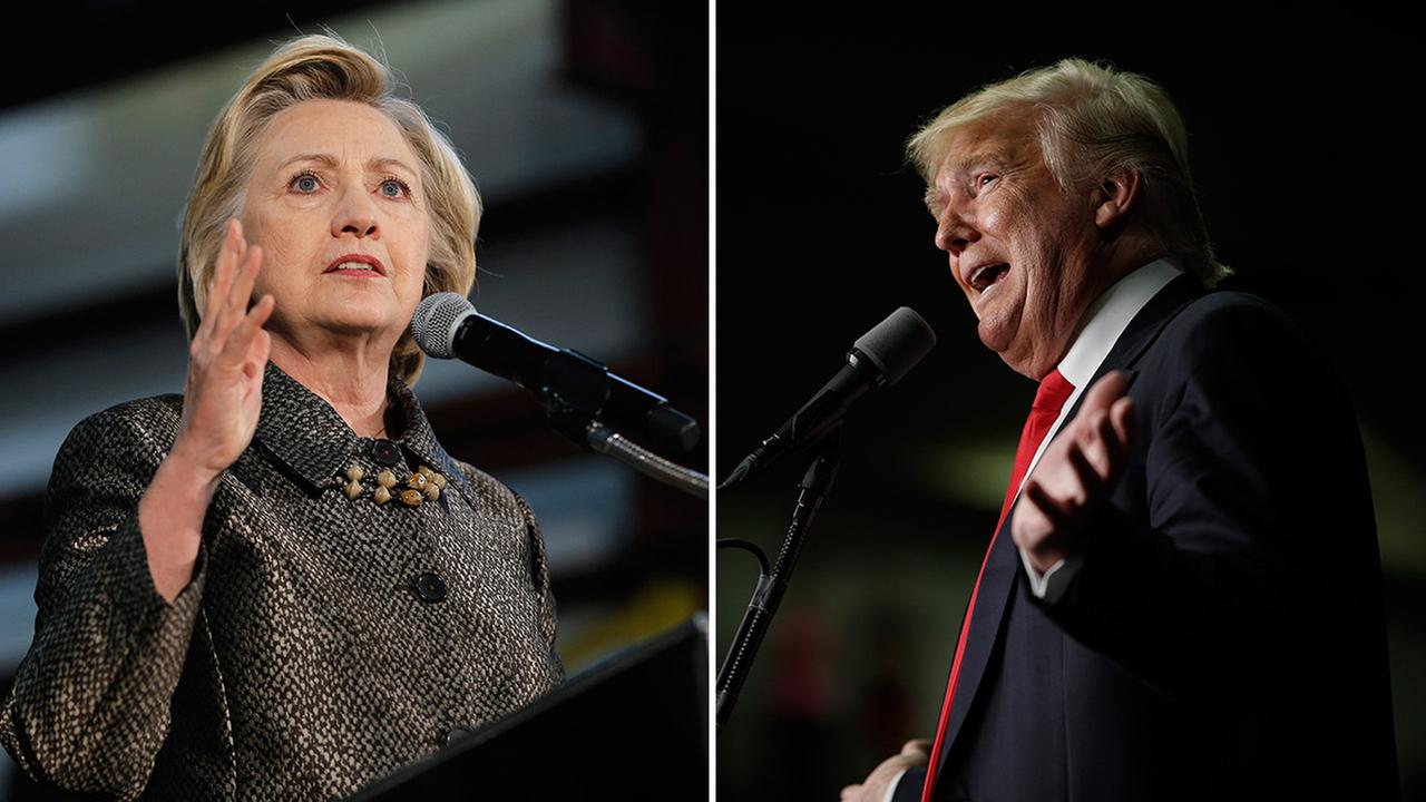 Democratic presidential candidate Hillary Clinton (left) and Republican presidential candidate Donald Trump (right).