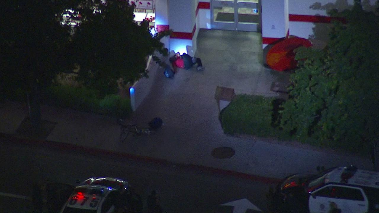 Authorities subdued an armed suspect at a Sherman Oaks In N Out on Monday, May 2, 2016.