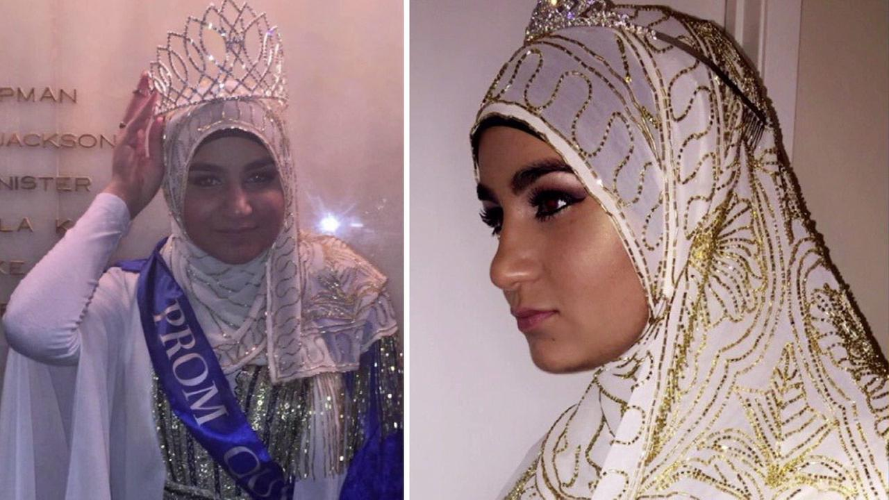 Zarifeh Shalabi, a devout Muslim, was crowned Summit High Schools prom queen.