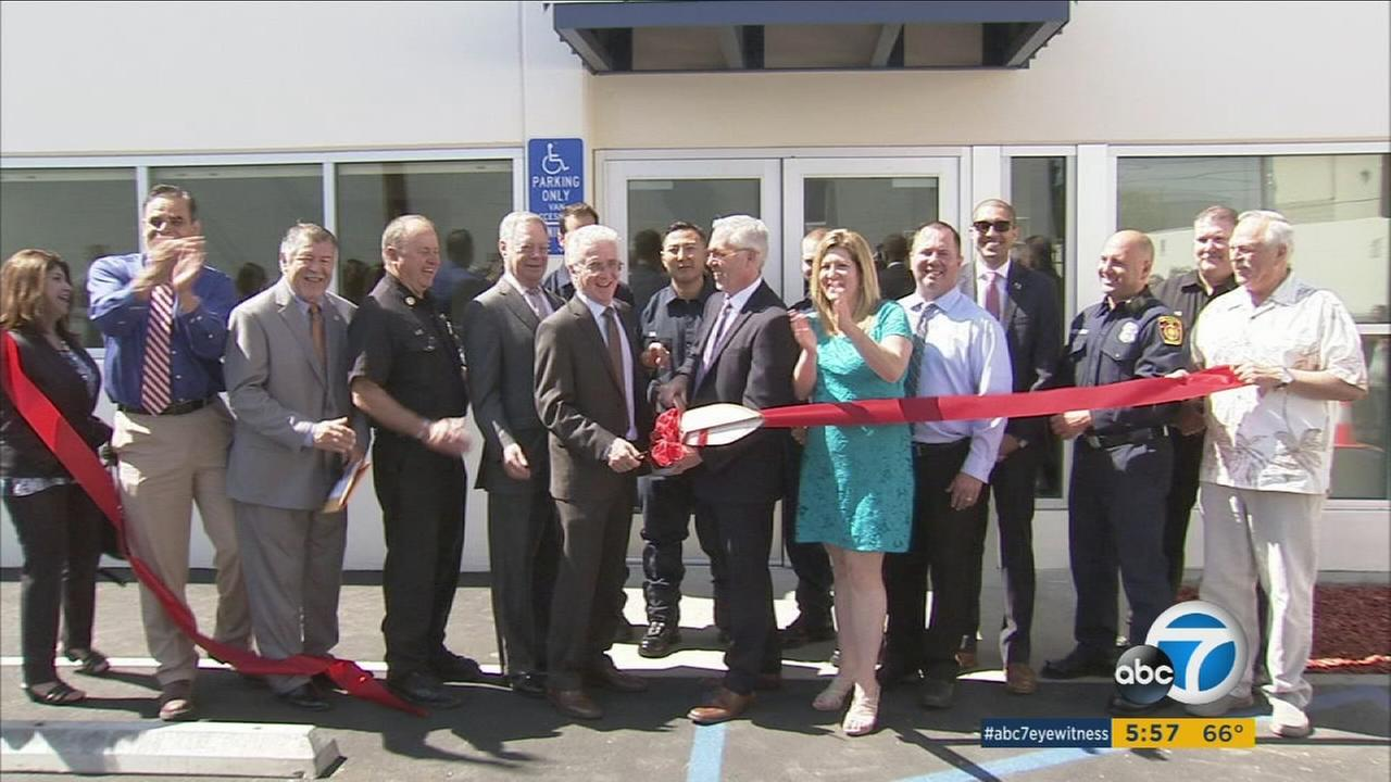 The San Fernando Valley Rescue Mission held a ribbon-cutting ceremony Thursday, May 12, 2016 to open a 10,000-square-foot facility that was built to replace their warehouse.