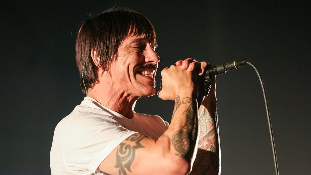 A Red Hot Chili Peppers show in Irvine was canceled because singer Anthony Kiedis, pictured in February, was hospitalized.