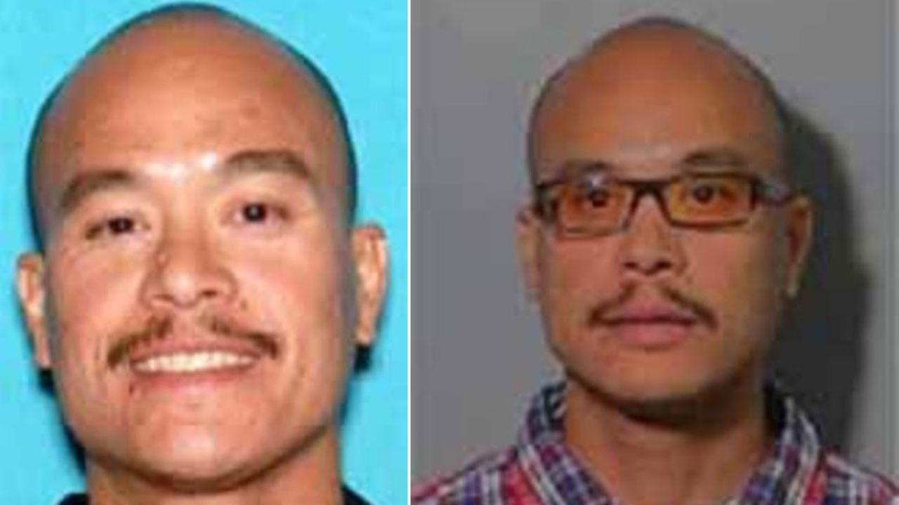 Philip Patrick Policarpio, 39, is shown in an undated DMV photo alongside another photo of him wearing eyeglasses.