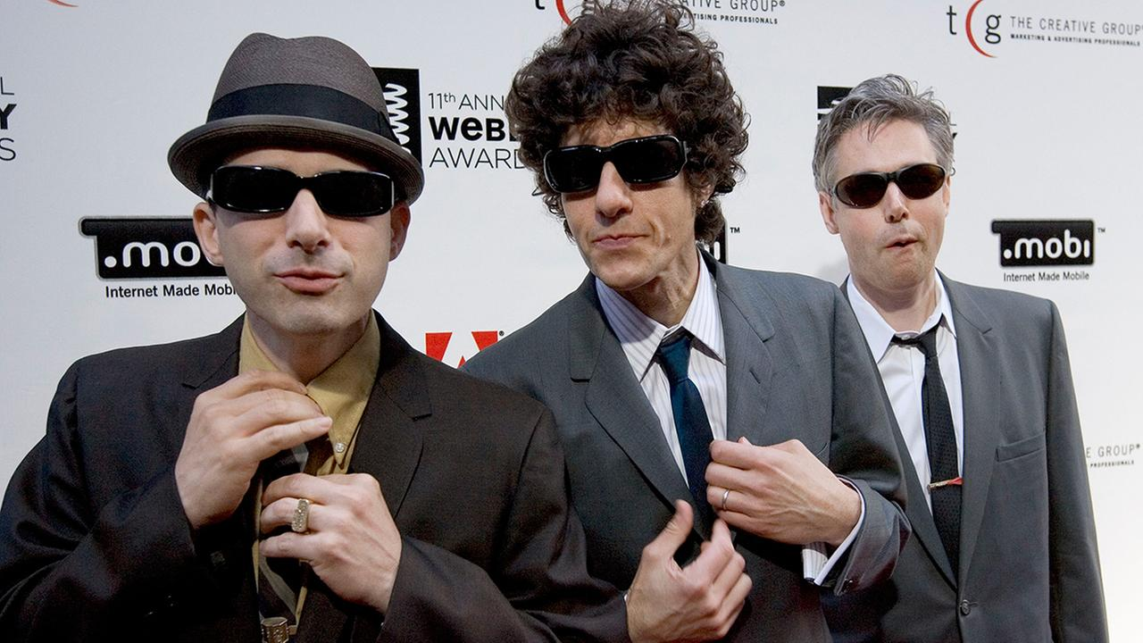 This June 5, 2007 file photo shows The Beastie Boys, from left, Adam Horovitz (Ad-Rock), Michael Diamond (Mike D) and Bassist Adam Yauch (MCA).