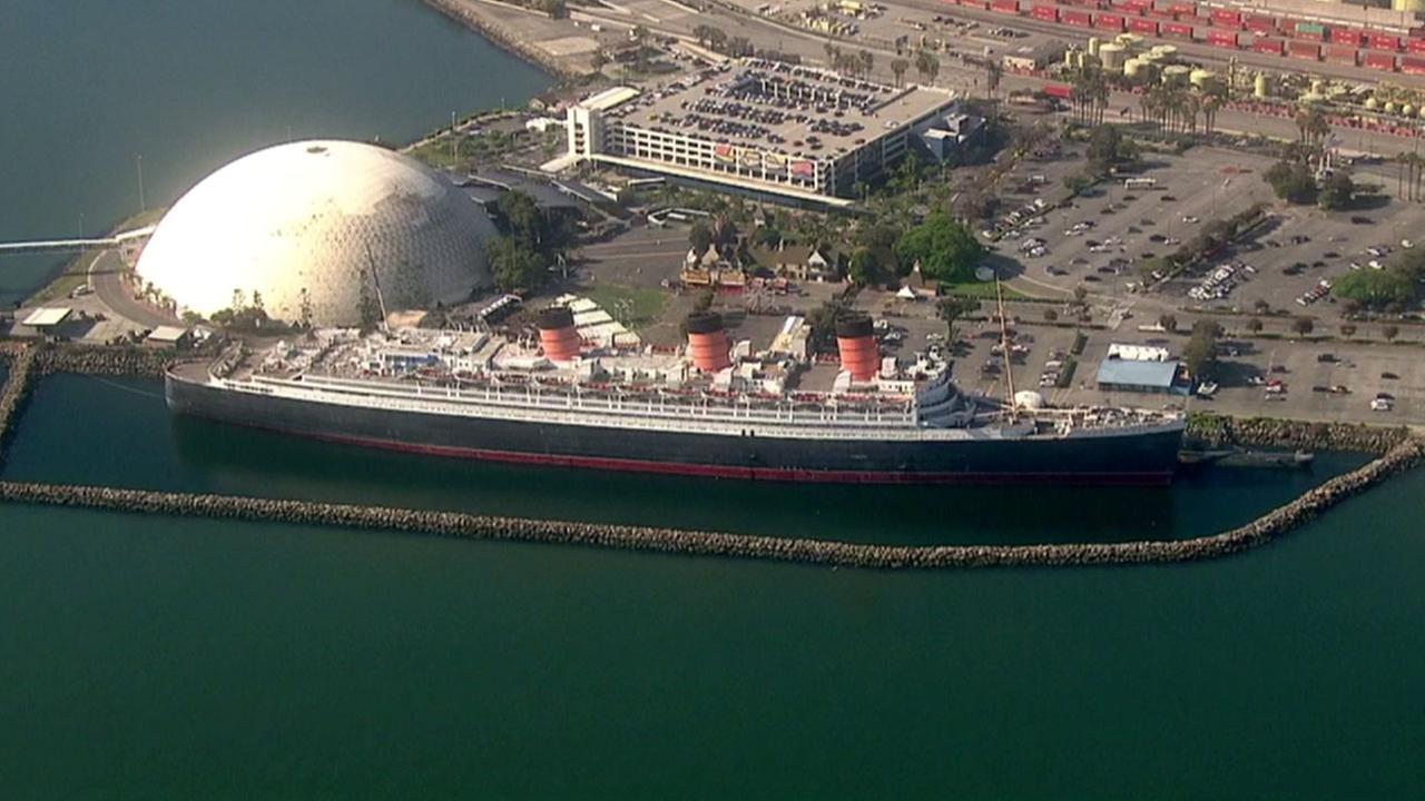 The Queen Mary is shown in undated file footage captured by AIR7 HD.