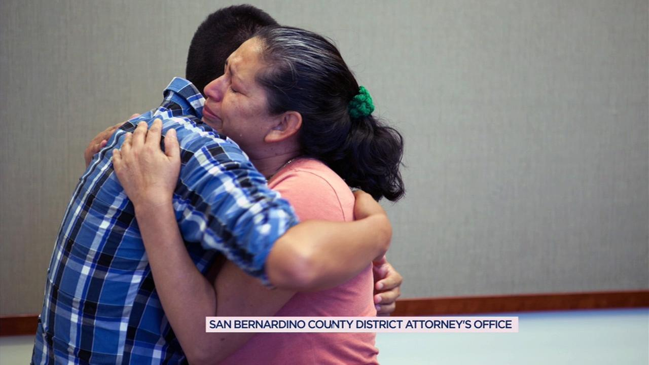 Maria Mancia was reunited with her son Steve Hernandez 21 years after he was kidnapped by his father and taken to Mexico.