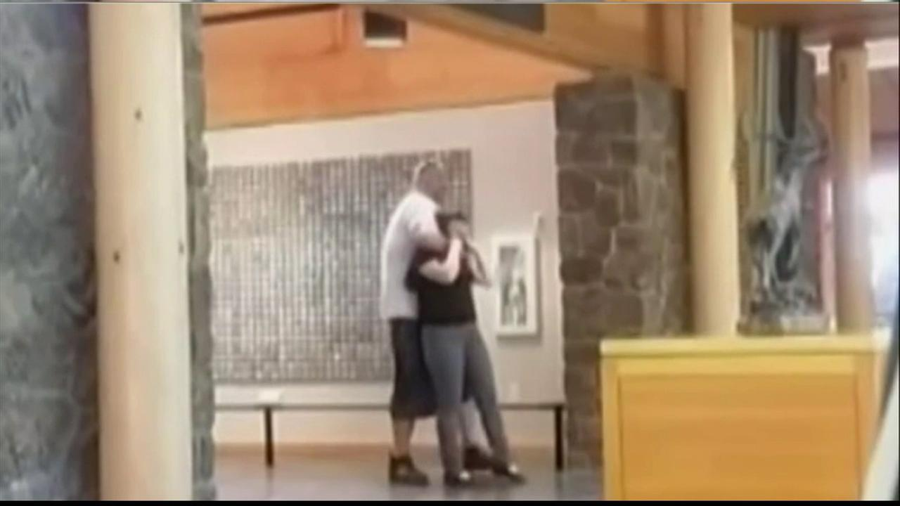 Good Samaritans confronted Nicholas Berger after police said he attempted to drag an employee out of the High Desert Museum in Bend, Ore., on May 31, 2016.