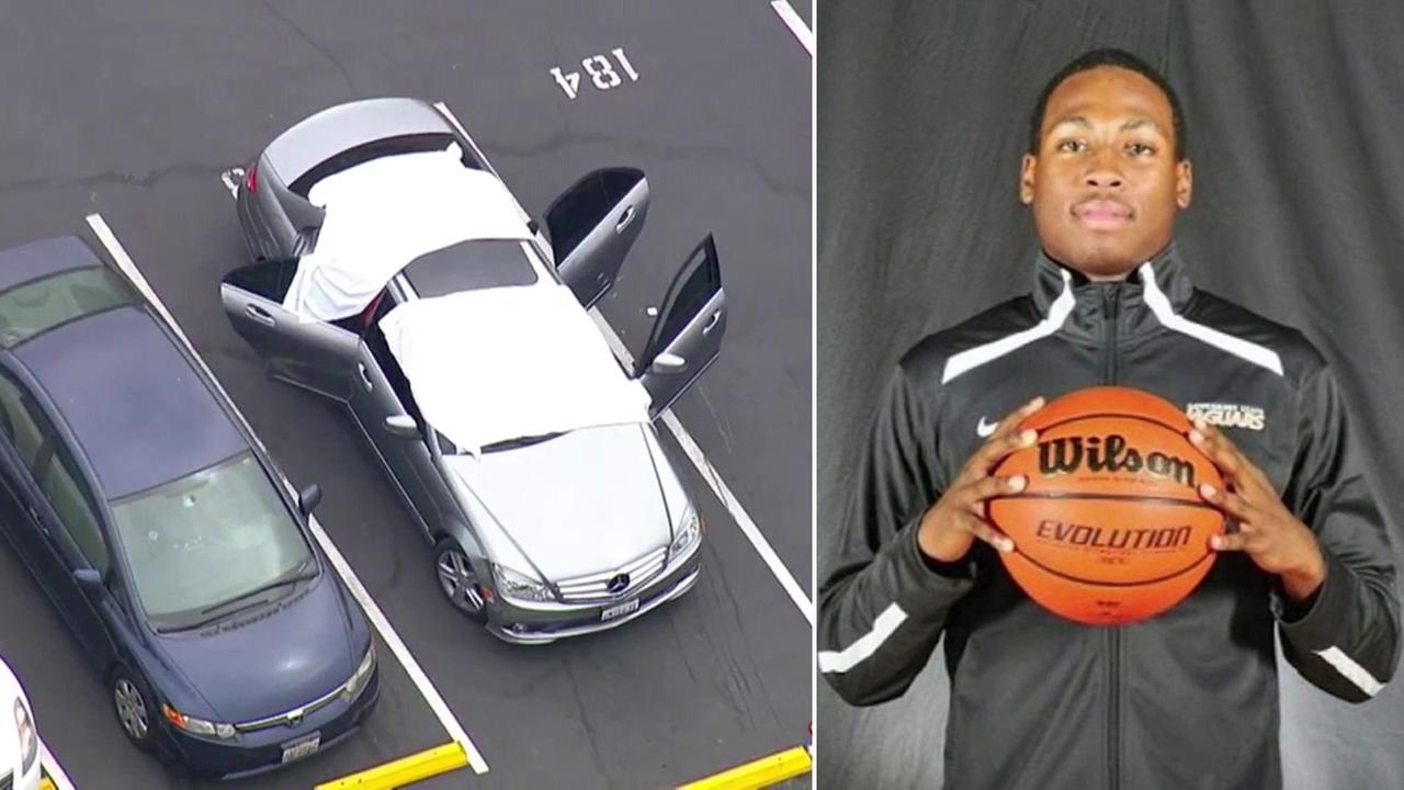 After a gunshot was heard, the body of Saieed Ivey, a basketball player from East Los Angeles College, was found in the back of a Mercedes-Benz in Monterey Park, authorities said.