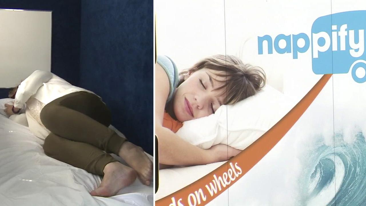 Nappify, a mobile nap pod, allows customers to take a 40-minute nap.