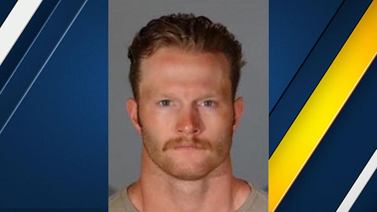 Theo Andrew Krah is seen in a booking photo from the Santa Monica Police Department.