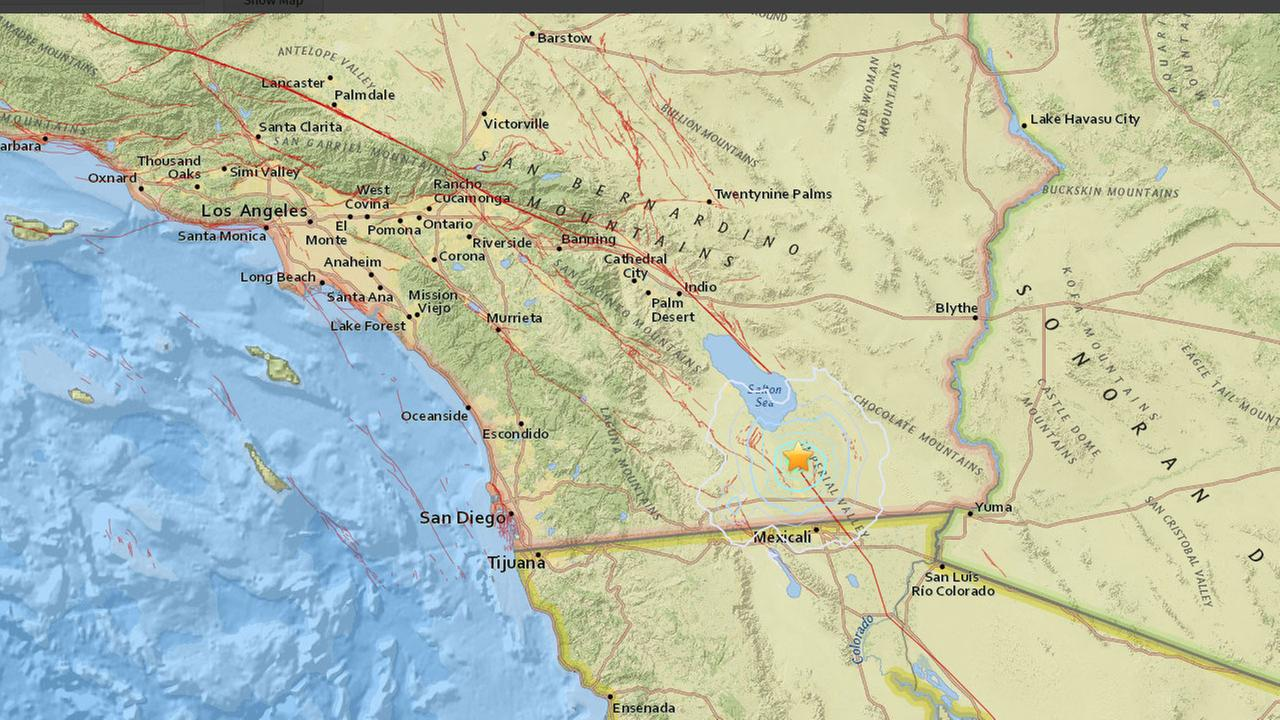 A 3.9 earthquake hit west of Brawley in the Imperial Valley around 2:55 p.m. on Tuesday, June 21, 2016.