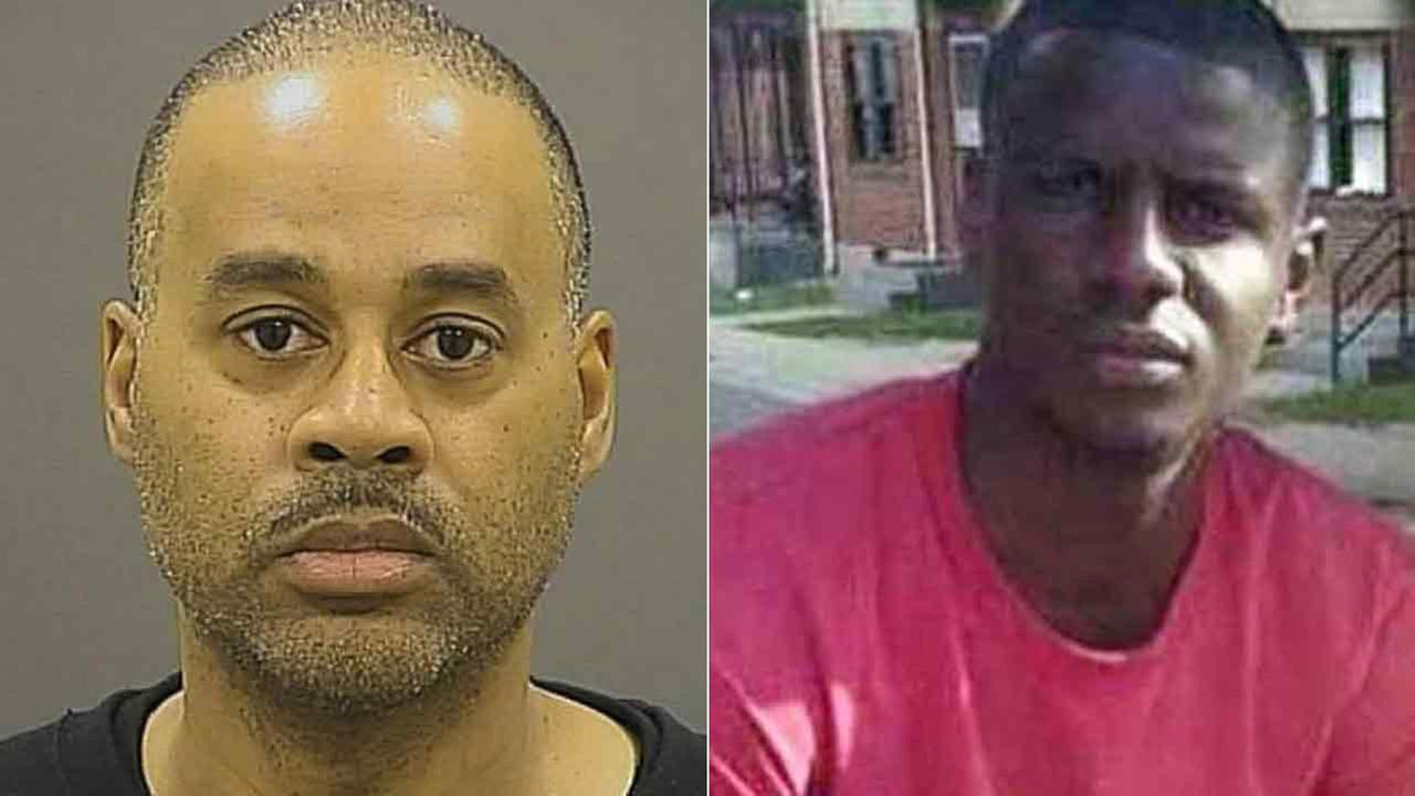 Baltimore police officer Caesar Goodson seen in an undated photo (left), who was acquitted of all charges in the death of 25-year-old Freddie Gray (right).