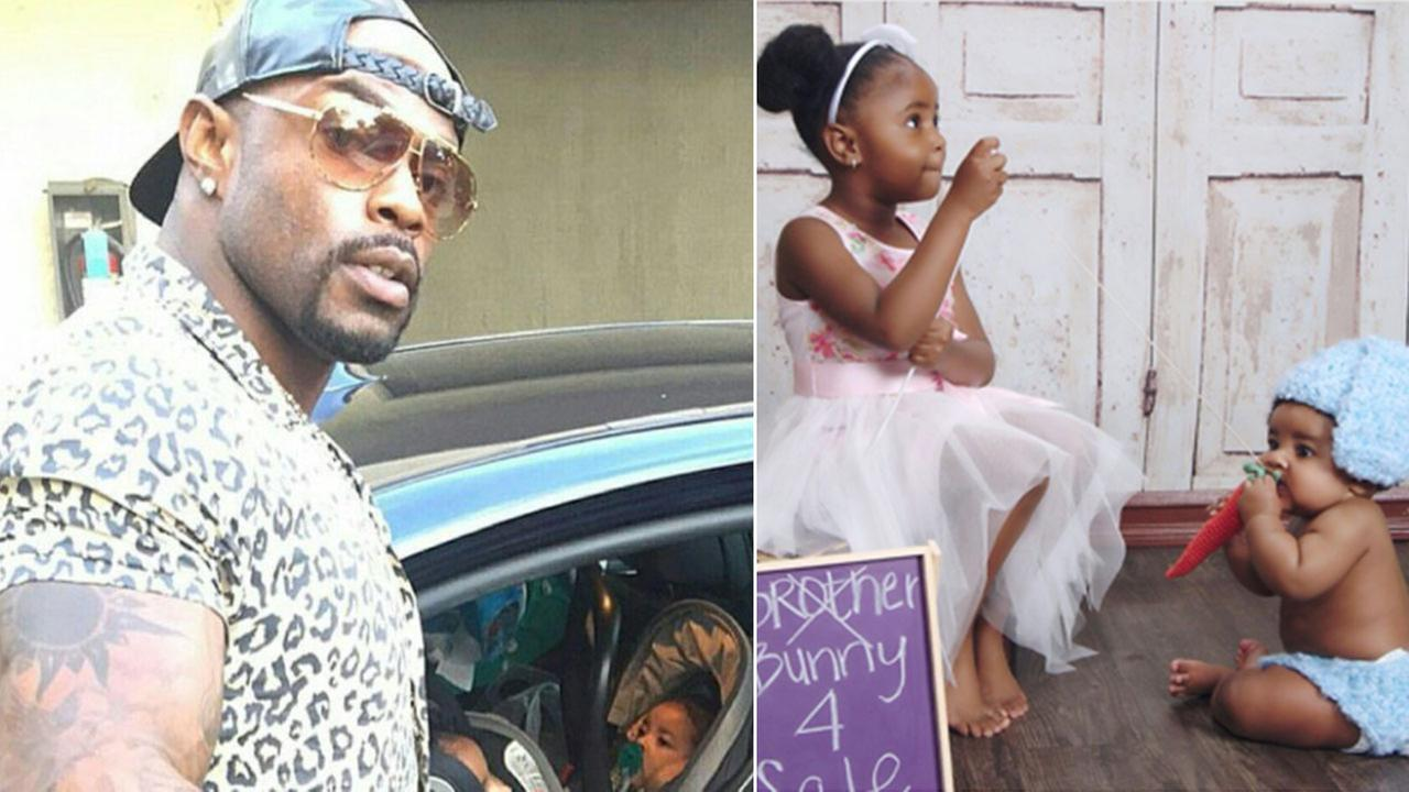 Lavell Mann, 33, his daughter, Logan, 3, and son Legend, 9 months, were killed in a crash on the 91 Freeway on Saturday, July 9, 2016.
