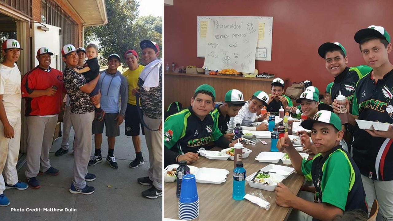 The Southern California community rallied behind a youth baseball team from Aguascalientes, Mexico, who were stranded after their sponsor bailed on them.