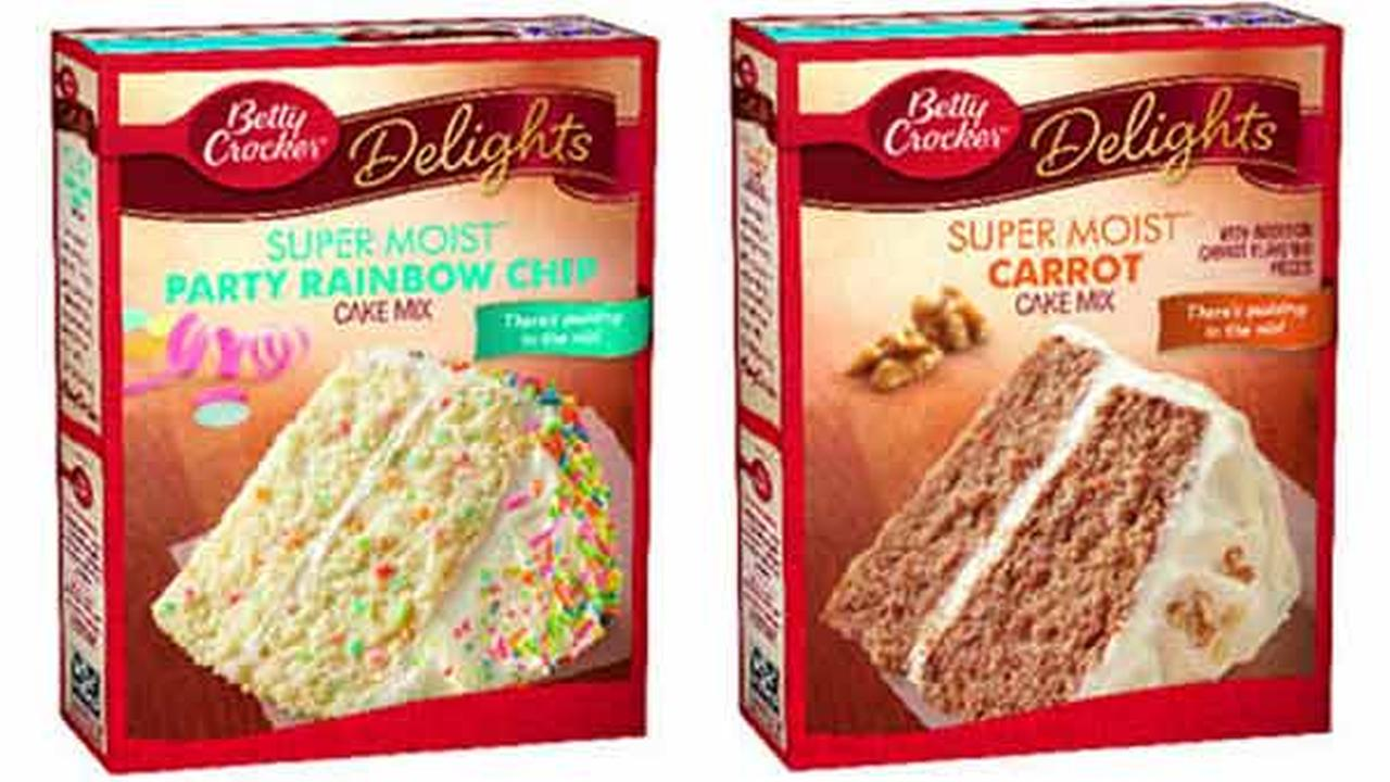 Betty Crocker products in the U.S. announced in a recall by General Mills.
