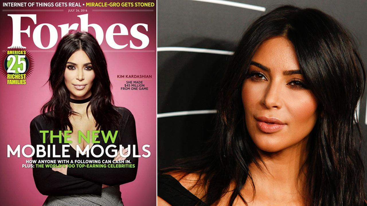 Kim Kardashian West is on the cover of Forbes as one of the highest-earning celebrities.