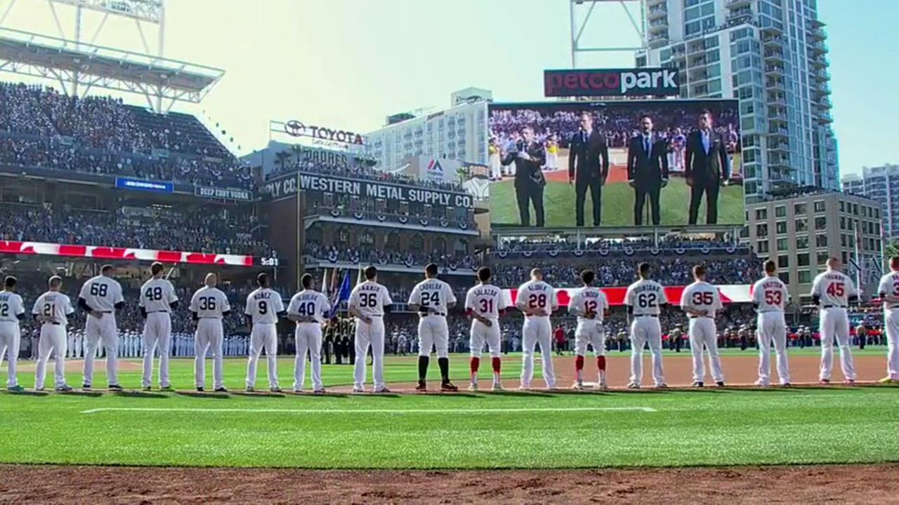 A member of a Canadian singing quartet changed a lyric in his countrys national anthem to support All Lives Matter during a performance at baseballs All-Star Game.