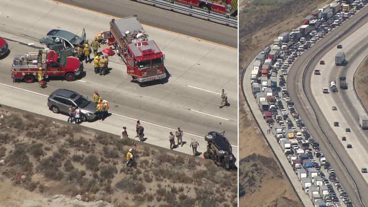2s 4 Children Injured In 5 Freeway Crash In Gorman
