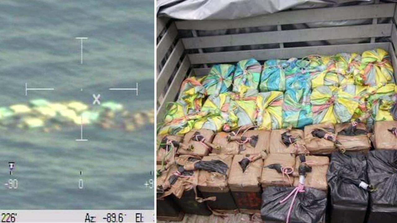 Mexican authorities said nearly a ton of suspected cocaine was discovered floating in the Pacific Ocean near Puerto Chiapas on Monday, July 11, 2016.