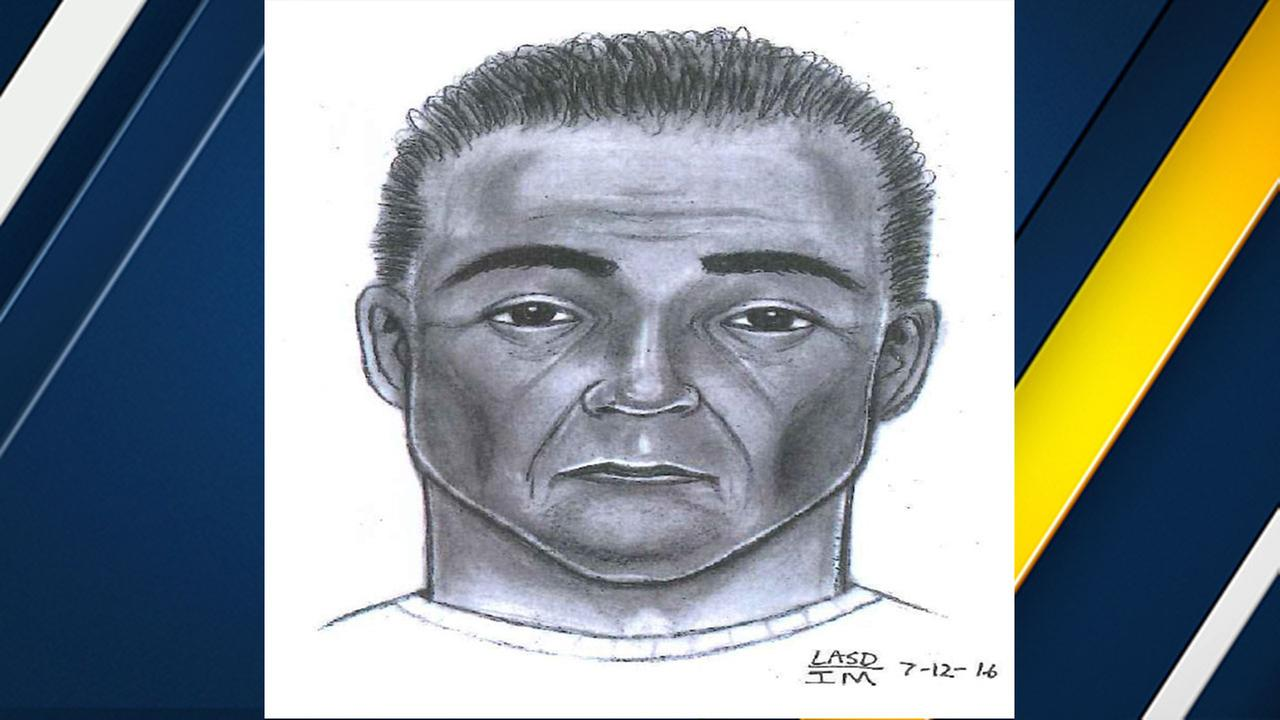 El Monte police released this sketch of a man suspected in a sexual battery on a juvenile girl.