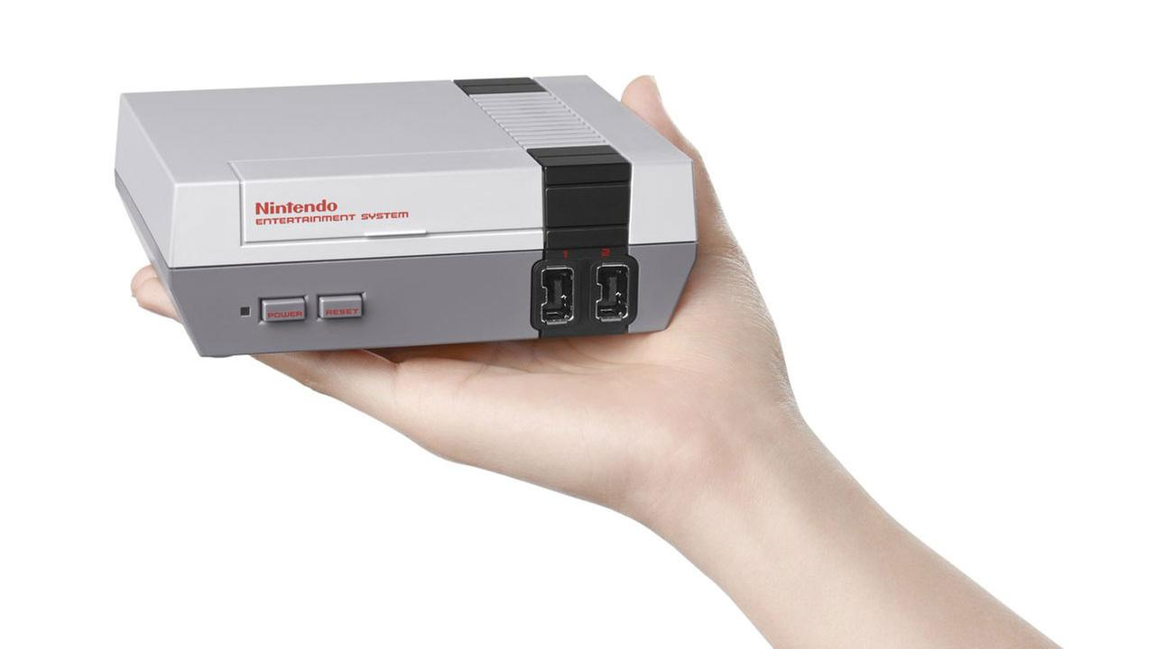 A game-packed mini NES console is shown in a promotional image tweeted out by Nintendo on Thursday, July 14, 2016.