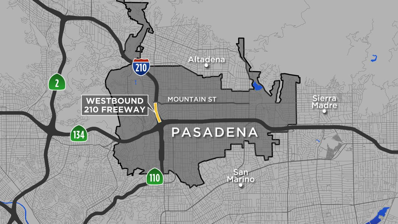 All lanes on stretch of 210 Freeway in Pasadena closed for road