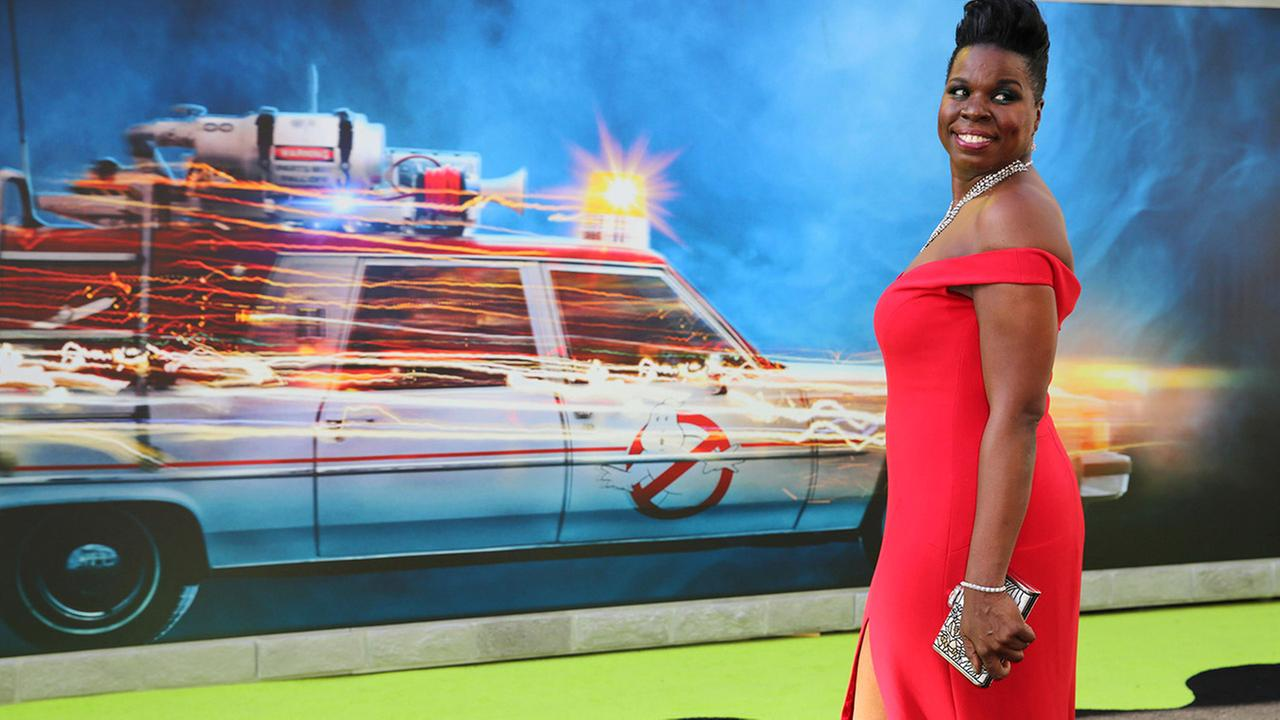 Leslie Jones is seen at the Los Angeles Premiere of Columbia Pictures Ghostbusters at TCL Chinese Theatre on Saturday, July 9, 2016, in Los Angeles.
