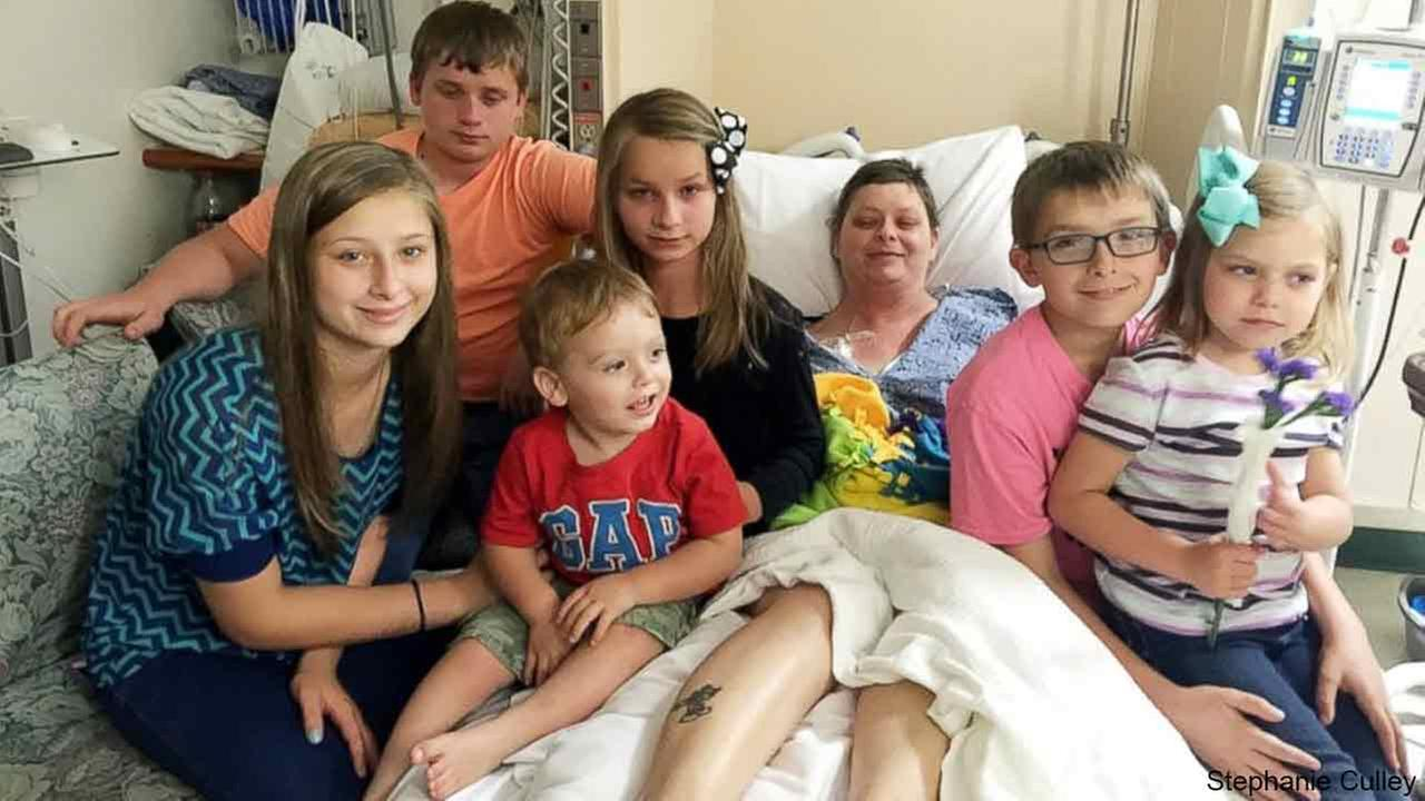 On July 19, Stephanie Culley, 39, of Alton, Virginia, adopted her friend Beth Laitkeps six children, after she died on May 19 from cancer at the age of 39.