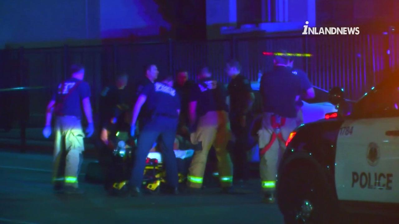 Authorities transported a 16-year-old who was found shot on the campus of an Ontario high school on Thursday, July 21, 2016.