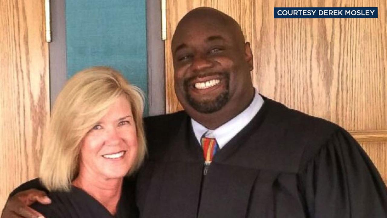 Judge Derek Mosley and Judge Joann Eiring are seen posing in this undated photo.