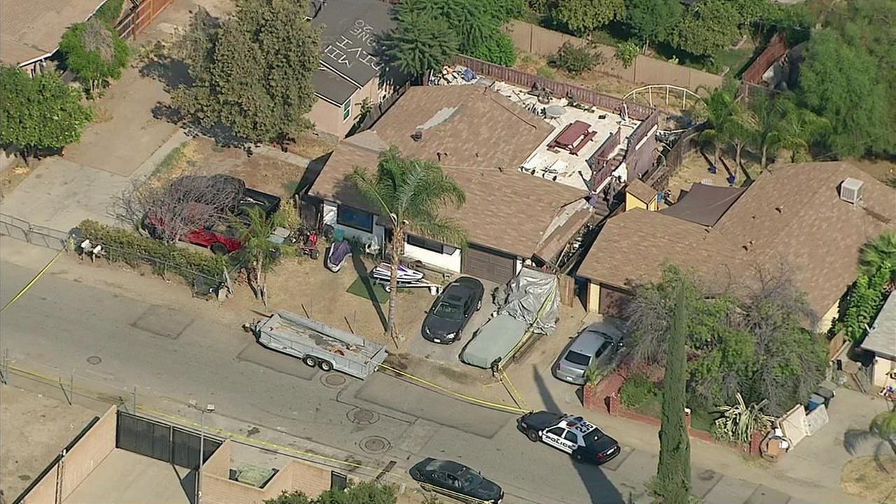Detectives were investigating after three bodies were discovered in a Lake Elsinore home on Tuesday, Aug. 2, 2016.