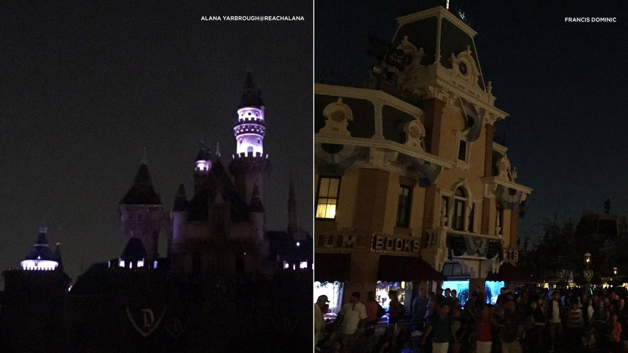 Disneyland was briefly affected by a power outage Wednesday night until backup generators kicked in.