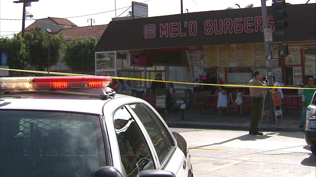 A suspect was shot by a deputy in the 10200 block of Inglewood Avenue in Lennox on Sunday, Aug. 7, 2016, according to the Los Angeles County Sheriffs Department.