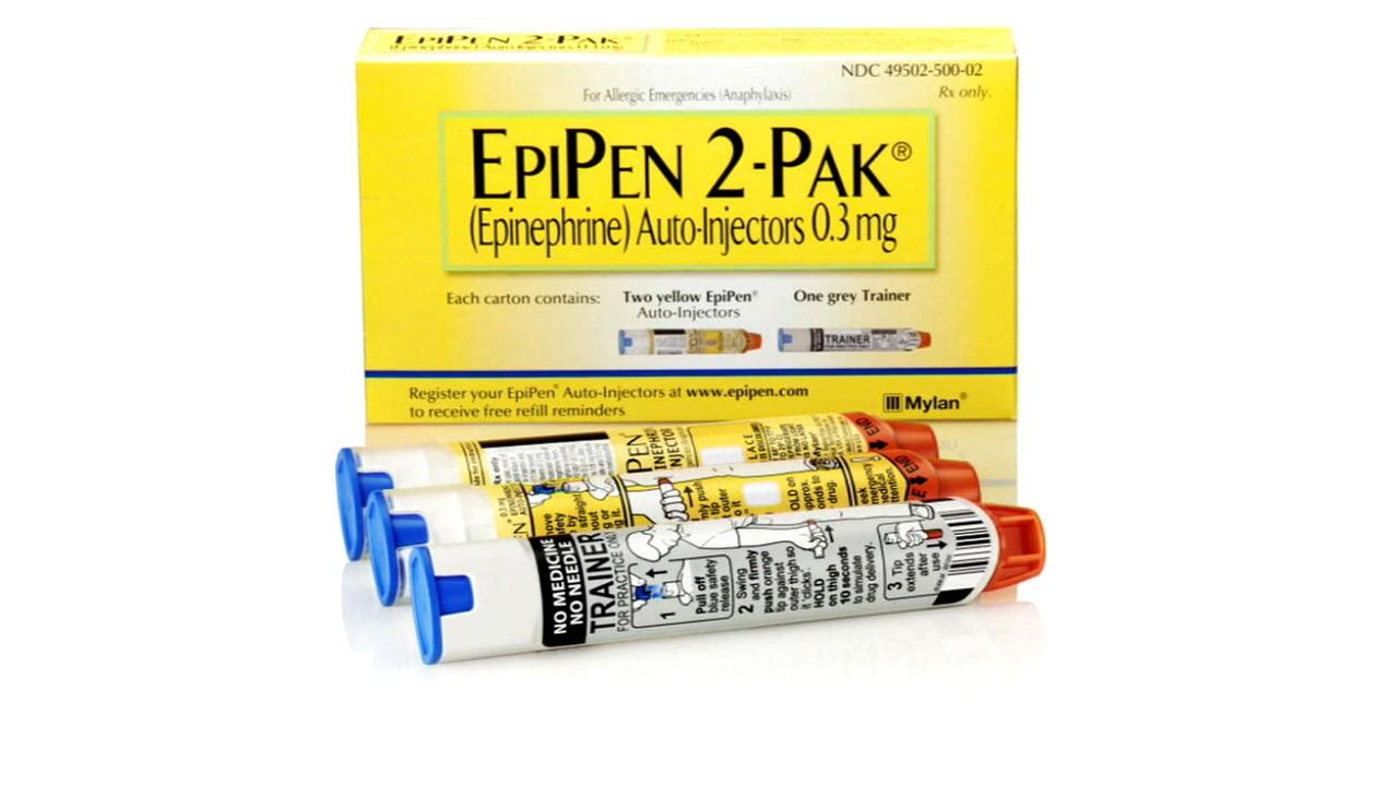 An Epipen is shown in an undated photo.