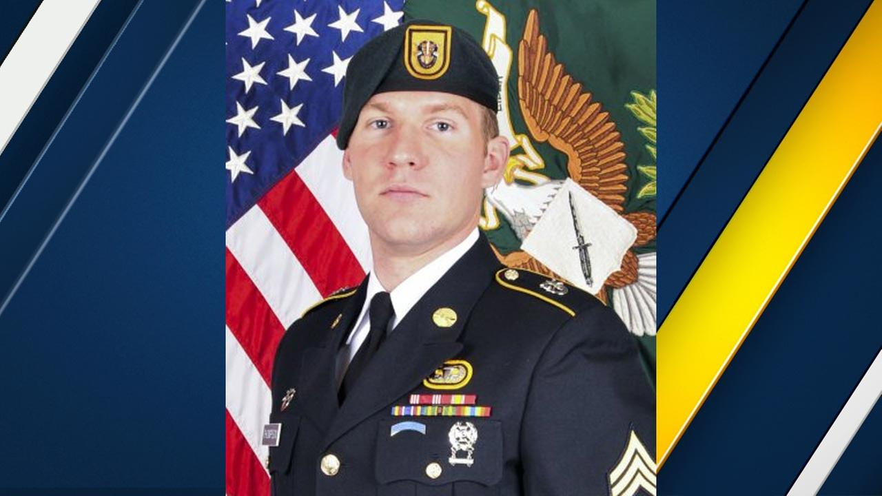 Staff Sgt. Matthew V. Thompson, 28, of Irvine is seen in an official U.S. Army photo.